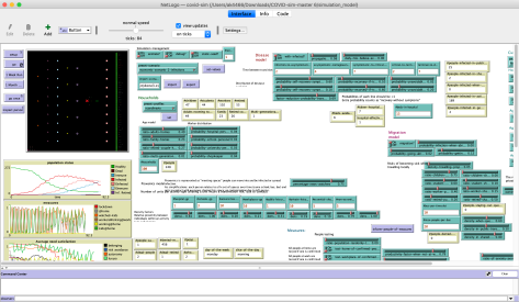 Figure 2: A screenshot of the base simulation model.